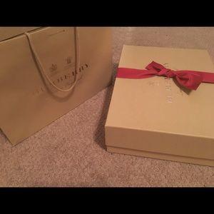 Burberry Garment Bag, Burberry bag and Box